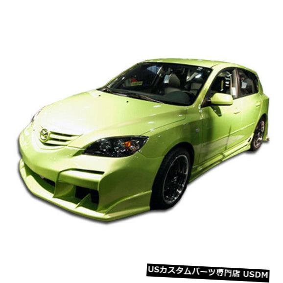 Full Body Kit 04-08マツダマツダ3レイヴンデュラフレックスフルボディキット!!! 110607 04-08 Mazda Mazda 3 Raven Duraflex Full Body Kit!!! 110607