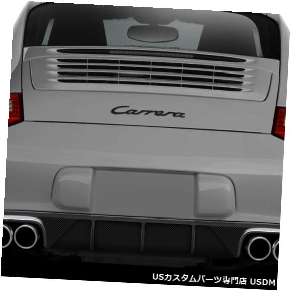 Rear Bumper 09-11ポルシェ997 AF2エアロ機能CFPリアバンパーディフューザーボディキット108940 09-11 Porsche 997 AF2 Aero Function CFP Rear Bumper Diffuser Body Kit 108940