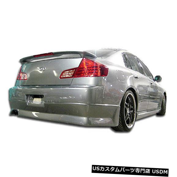 Rear Bumper 03-04適合Infiniti G Sedan 4DR GT Comp Duraflexリアバンパーリップボディキット100471 03-04 Fits Infiniti G Sedan 4DR GT Comp Duraflex Rear Bumper Lip Body Kit 100471