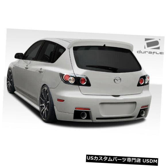 Rear Bumper 04-09マツダマツダ3 HB X-Sport Duraflexリアボディキットバンパー!!! 107763 04-09 Mazda Mazda 3 HB X-Sport Duraflex Rear Body Kit Bumper!!! 107763
