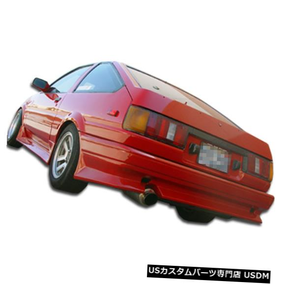 Rear Bumper 84-87トヨタカローラ2DR V-Speed Duraflexリアボディキットバンパー!!! 100696 84-87 Toyota Corolla 2DR V-Speed Duraflex Rear Body Kit Bumper!!! 100696