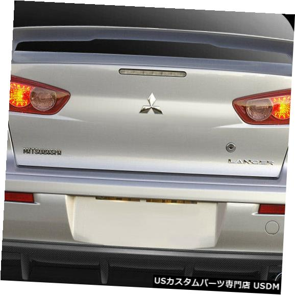 Rear Bumper 08-17三菱ランサーMPowerカーボンファイバーリアバンパーディフューザーボディキット109421 08-17 Mitsubishi Lancer MPower Carbon Fiber Rear Bumper Diffuser Body Kit 109421