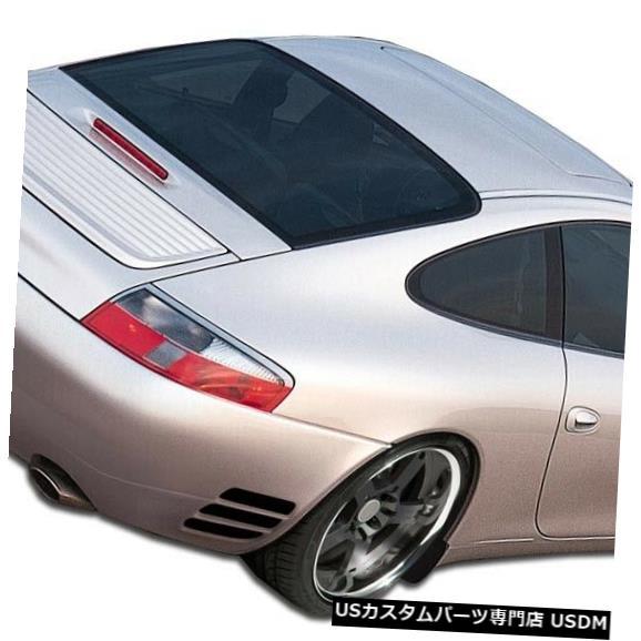 Rear Bumper 99-04ポルシェ996ターボルックデュラフレックスリアボディキットバンパー!!! 107076 99-04 Porsche 996 Turbo Look Duraflex Rear Body Kit Bumper!!! 107076