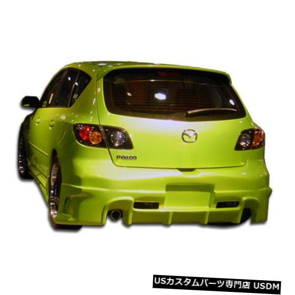 Rear Bumper 04-09マツダマツダ3 HBレイヴンデュラフレックスリアボディキットバンパー!!! 100567 04-09 Mazda Mazda 3 HB Raven Duraflex Rear Body Kit Bumper!!! 100567