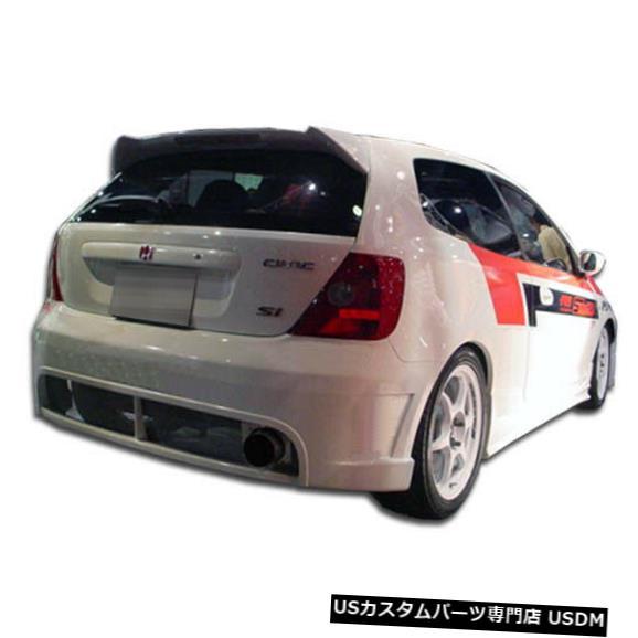 Rear Bumper 02-05ホンダシビックHB JDMバディデュラフレックスリアボディキットバンパー!!! 100444 02-05 Honda Civic HB JDM Buddy Duraflex Rear Body Kit Bumper!!! 100444