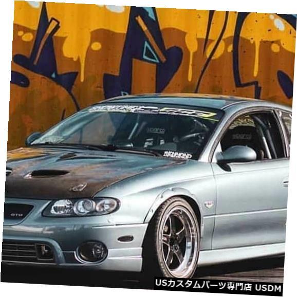 Spoiler 04-06ポンティアックGTO SAPスタイルKBDウレタンフロントボディキットバンパーリップ!!! 37-6000 04-06 Pontiac GTO SAP Style KBD Urethane Front Body Kit Bumper Lip!!! 37-6000