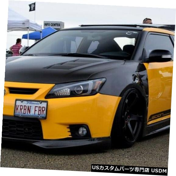【人気沸騰】 Spoiler 11-13適合Scion TC SeibonカーボンファイバーフロントバンパーリップボディキットFL1112SCNTC-TR 11-13 Fits Scion TC Seibon Carbon Fiber Front Bumper Lip Body Kit FL1112SCNTC-TR, トミヤマチ 88f82486
