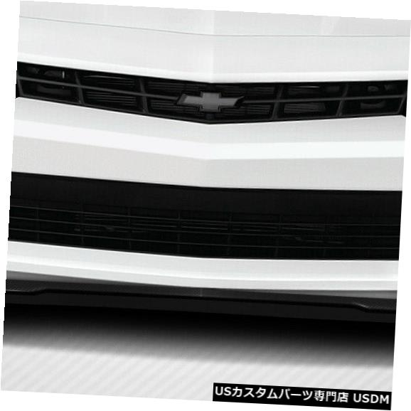 Spoiler 14-15シボレーカマロV6 GM-Xカーボンファイバーフロントバンパーリップボディキット!!! 112230 14-15 Chevrolet Camaro V6 GM-X Carbon Fiber Front Bumper Lip Body Kit!!! 112230