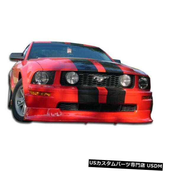 Spoiler 05-09フォードマスタングレーサーV6デュラフレックスフロントバンパーリップボディキット!!! 100660 05-09 Ford Mustang Racer V6 Duraflex Front Bumper Lip Body Kit!!! 100660