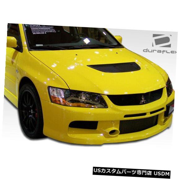 Spoiler 03-06三菱エボリューションMRエディションデュラフレックスフロントボディキットバンパー!!! 104456 03-06 Mitsubishi Evolution MR Edition Duraflex Front Body Kit Bumper!!! 104456