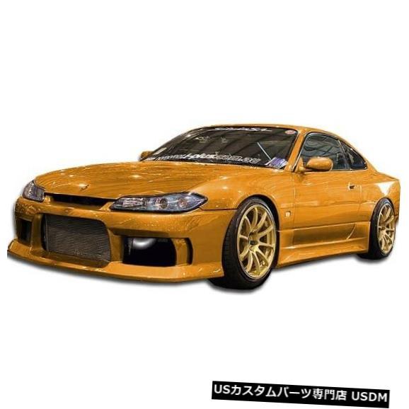 Spoiler 99-02日産S15シルビアM-1デュラフレックスフロントボディキットバンパーに適合!!! 104275 99-02 Fits Nissan S15 Silvia M-1 Duraflex Front Body Kit Bumper!!! 104275