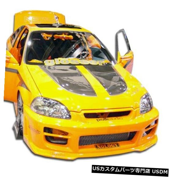 Spoiler 99-00ホンダシビックR34 Duraflexフロントボディキットバンパー!!! 102103 99-00 Honda Civic R34 Duraflex Front Body Kit Bumper!!! 102103