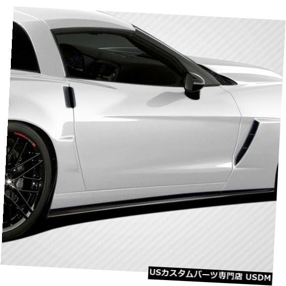 Side Skirts Body Kit 05-13シボレーコルベットGT500カーボンファイバーサイドスカートスプリッターボディキット108409 05-13 Chevrolet Corvette GT500 Carbon Fiber Side Skirts Splitter Body Kit 108409