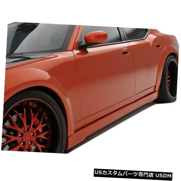 Side Skirts Body Kit 06-10ダッジチャージャーラックスクチュールサイドスカートワイドボディキット!!! 104813 06-10 Dodge Charger Luxe Couture Side Skirts Wide Body Kit!!! 104813