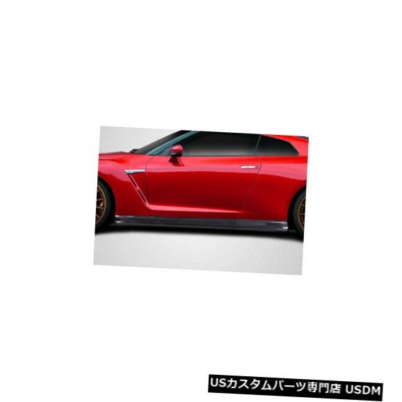 Side Skirts Body Kit 09-17日産GTR C-1カーボンファイバークリエーションサイドスカートボディキットに適合!!! 115560 09-17 Fits Nissan GTR C-1 Carbon Fiber Creations Side Skirts Body Kit!!! 115560