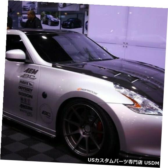 ボンネット 09-15日産370Z TSセイボンカーボンファイバーボディキットに適合-フード!!! HD0910NS370-TS 09-15 Fits Nissan 370Z TS Seibon Carbon Fiber Body Kit- Hood!!! HD0910NS370-TS