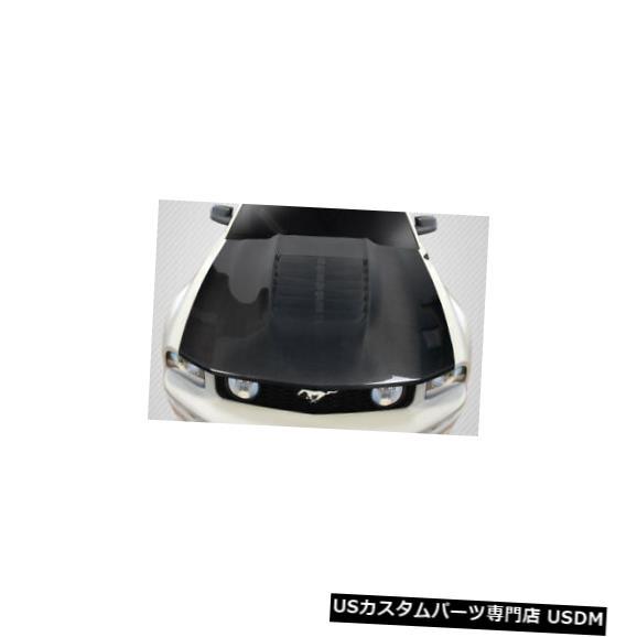 ボンネット 05-09フォードマスタングGT500 V2カーボンファイバークリエーションズボディキット-フード!!! 115194 05-09 Ford Mustang GT500 V2 Carbon Fiber Creations Body Kit- Hood!!! 115194