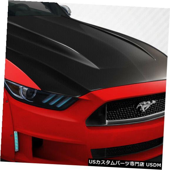 車用品 バイク用品 >> パーツ 外装 エアロパーツ その他 ボンネット 15-17フォードマスタングカウルカーボンファイバークリエーションズボディキット-フード 112583 Fiber Kit- Carbon Cowl Hood 一部予約 激安 激安特価 送料無料 Mustang Creations Body 15-17 Ford