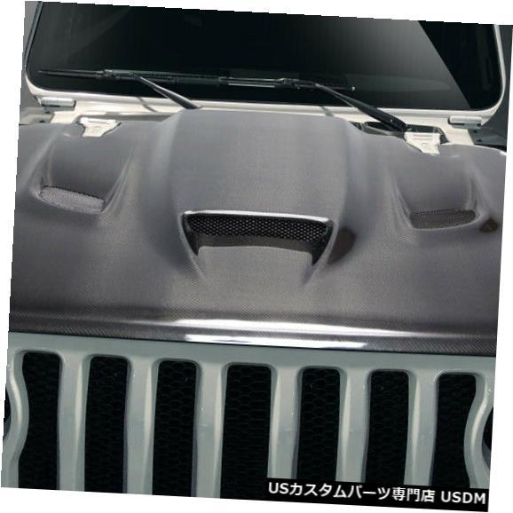 ボンネット 19-19ジープラングラーヘルキャットカーボンファイバークリエーションズボディキット-フード!!! 115008 19-19 Jeep Wrangler Hellcat Carbon Fiber Creations Body Kit- Hood!!! 115008