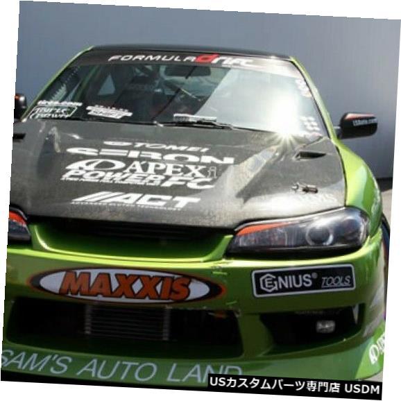 ボンネット 99-02適合日産240SX DVIIセイボンカーボンファイバーボディキット-フードHD9901NSS15-DV II 99-02 Fits Nissan 240SX DVII Seibon Carbon Fiber Body Kit- Hood HD9901NSS15-DVII