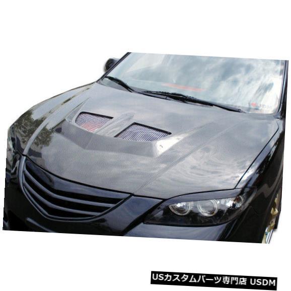 ボンネット 04-09マツダマツダ3 4DR EVOカーボンファイバークリエーションボディキット-フード!!! 104159 04-09 Mazda Mazda 3 4DR EVO Carbon Fiber Creations Body Kit- Hood!!! 104159