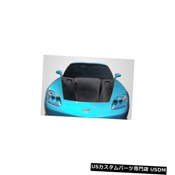 ボンネット 05-13シボレーコルベットC6 RKSVカーボンファイバークリエーションズボディキット-フード!!! 115183 05-13 Chevrolet Corvette C6 RKSV Carbon Fiber Creations Body Kit- Hood!!! 115183