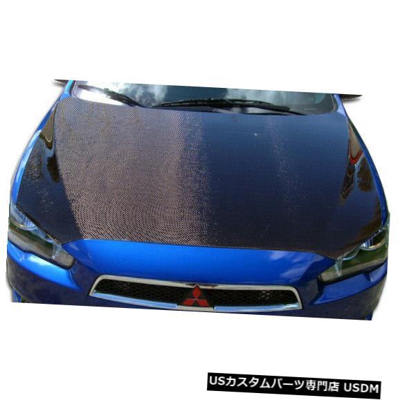 ボンネット 08-17三菱ランサーOEMカーボンファイバークリエーションボディキット-フード!!! 104757 08-17 Mitsubishi Lancer OEM Carbon Fiber Creations Body Kit- Hood!!! 104757