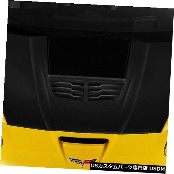 ボンネット 05-13シボレーコルベットスティングレイZカーボンファイバークリエーションズボディキット-フード109917 05-13 Chevrolet Corvette Stingray Z Carbon Fiber Creations Body Kit- Hood 109917