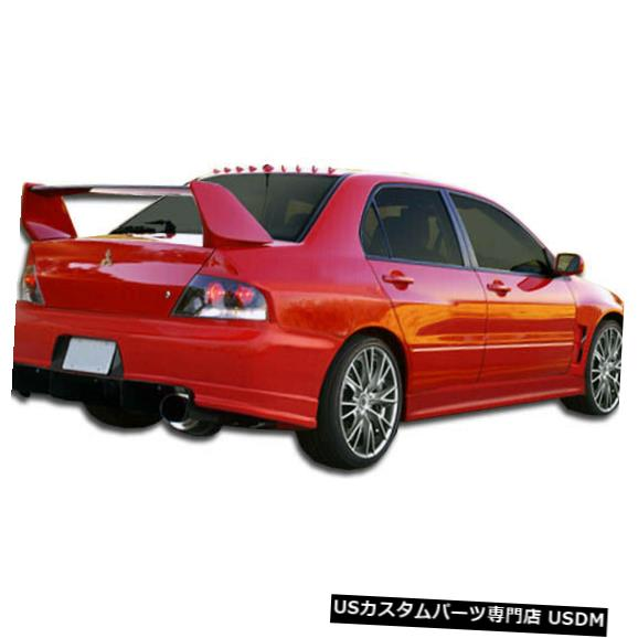 Rear Wide Body Kit Bumper 03-06三菱エボリューションGT500デュラフレックスリアワイドボディキットバンパー!!! 104857 03-06 Mitsubishi Evolution GT500 Duraflex Rear Wide Body Kit Bumper!!! 104857