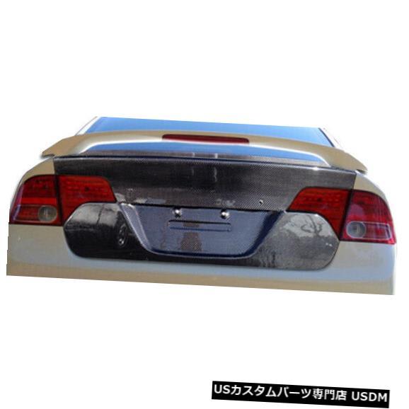 Trunk 06-11ホンダシビック4DR OEMカーボンファイバークリエーションズボディキット-トランク/ハット h !!! 104750 06-11 Honda Civic 4DR OEM Carbon Fiber Creations Body Kit-Trunk/Hatch!!! 104750
