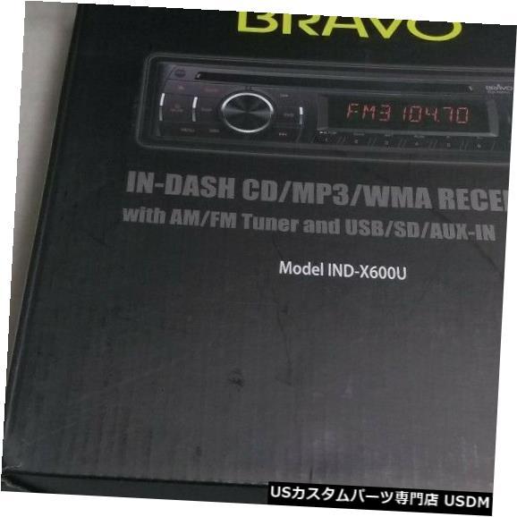 車用品・バイク用品 >> 車用品 >> カーナビ・カーエレクトロニクス >> その他 In-Dash Bravo Indash CD MP3 WMAレシーバーAM / FMチューナーUSB / SD / AUX_IN新規オープンボックス Bravo Indash CD MP3 WMA Receiver AM/FM Tuner USB/SD/AUX_IN New Opened Box