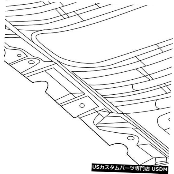 ラジエーターカバー ジープクライスラーOEMスプラッシュシールド下エンジン/ラジエーターカバー68274490AA Jeep CHRYSLER OEM Splash Shields-Under Engine / Radiator Cover 68274490AA