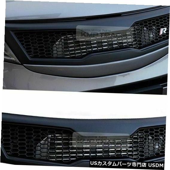 ラジエーターカバー フロントフードラジエーターエンブレムグリルカバー未塗装2011-2015 2016 Sportage R Fornt Hood Radiator Emblem Grille Cover Unpainted for 2011-2015 2016 Sportage R