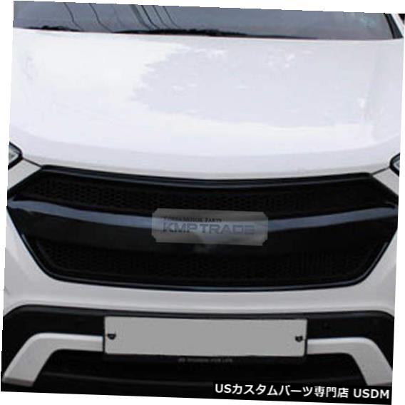 ラジエーターカバー フロントフードラジエーターチューニンググリル塗装ヒュンダイ2014-16サンタFE XLのカバー Front Hood Radiator Tuning Grille Painted Cover For HYUNDAI 2014-16 Santa FE XL