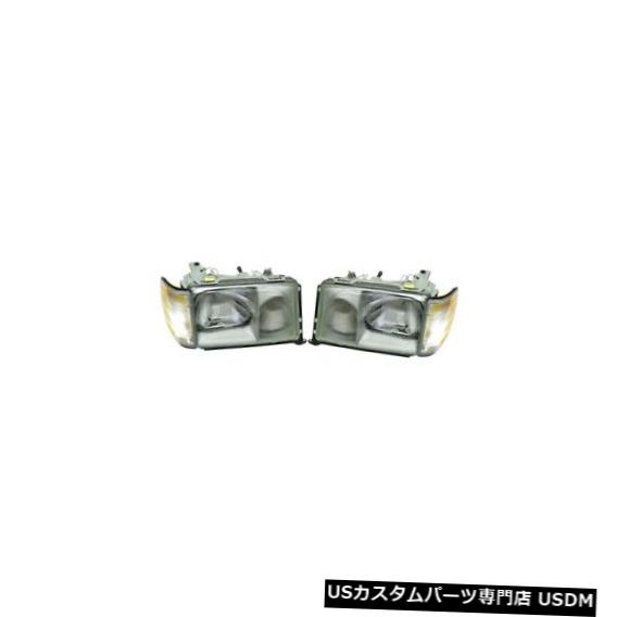 Turn Signal Lamp W124 MB用のターンシグナルライトペア付きの左右純正ヘッドライトランプ Left Right Genuine Headlights Lamps With Turn Signal Light Pair Set For W124 MB