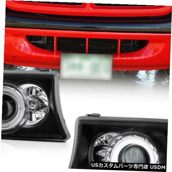 Turn Signal Lamp ダッジ97-04ダコタ98-03デュランゴブラックハローLED DRLプロジェクターヘッドライトランプ For Dodge 97-04 Dakota 98-03 Durango Black Halo LED DRL Projector Headlight Lamp