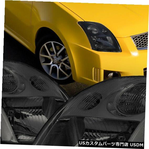 【新品、本物、当店在庫だから安心】 ヘッドライト 適合2007-2009日産セントラ[ブラック/ S moke]クリスタルコーナーヘッドライトヘッドランプランプ Fits 2007-2009 Nissan Sentra[Black/Smoke]Crystal Corner Headlight Headlamp Lamp, b-square f12a9b3c