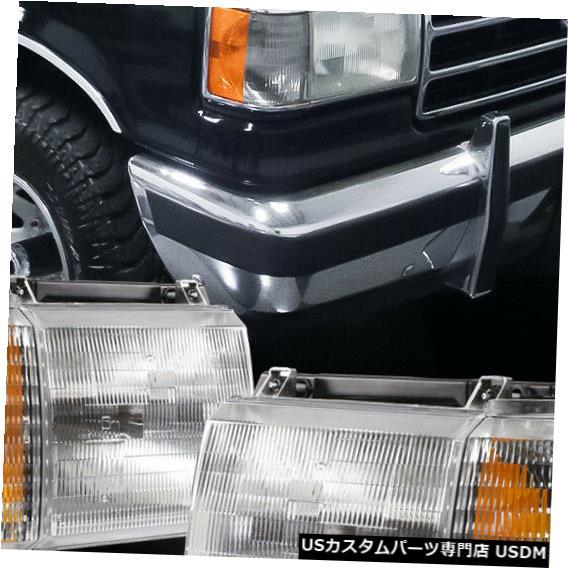 超特価SALE開催! ヘッドライト 1987-1991フォードF150 / F250 /ブロンに適合 co [Chrome / Crys tal]アンバーコーナーヘッドライトランプ Fits 1987-1991 Ford F150/F250/Bronco[Chrome/Crystal]Amber Corner Headlight Lamp, 木屋平村 b5cacc53
