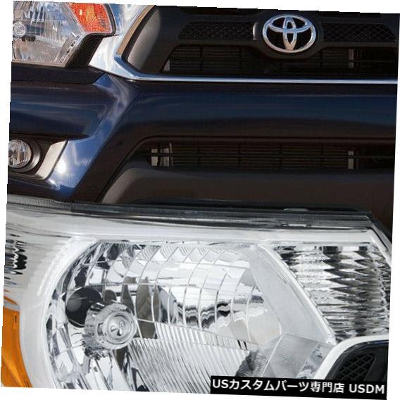 ヘッドライト 適合2012-2015トヨタタコマ[RH助手席側]クローム交換ヘッドライトランプ Fits 2012-2015 Toyota Tacoma[RH Passenger Side]Chrome Replacement Headlight Lamp