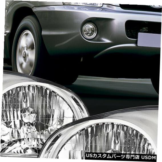 ヘッドライト 2003-2006ヒュンダイサンタフェ[クローム/クリア]に適合クリスタルコーナーヘッドライトヘッドランプ Fits 2003-2006 Hyundai Santa Fe [Chrome/Clear] Crystal Corner Headlight Headlamp