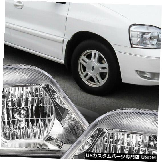 ヘッドライト 2004?2007年に適合Freestar / Monte rey [Chrome / Cle ar] Crystal Corner Headlight Headlamp Fits 2004-2007 Freestar/Monterey[Chrome/Clear]Crystal Corner Headlight Headlamp