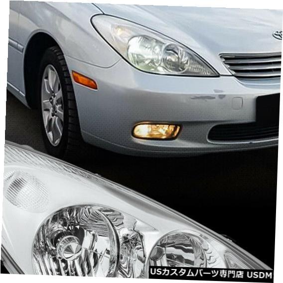 ヘッドライト 2002-2004レクサスES300 / ES330に適合[RH助手席側]クローム交換ヘッドライト Fits 2002-2004 Lexus ES300/ES330[RH Passenger Side]Chrome Replacement Headlight