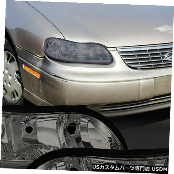 ヘッドライト 1997-2005年クラシック/マリブ / Cutlass [Chrom e / Smoke] Crysta lコーナーヘッドライトランプに適合 Fits 1997-2005 Classic/Malibu/Cutlass[Chrome/Smoke]Crystal Corner Headlight Lamp