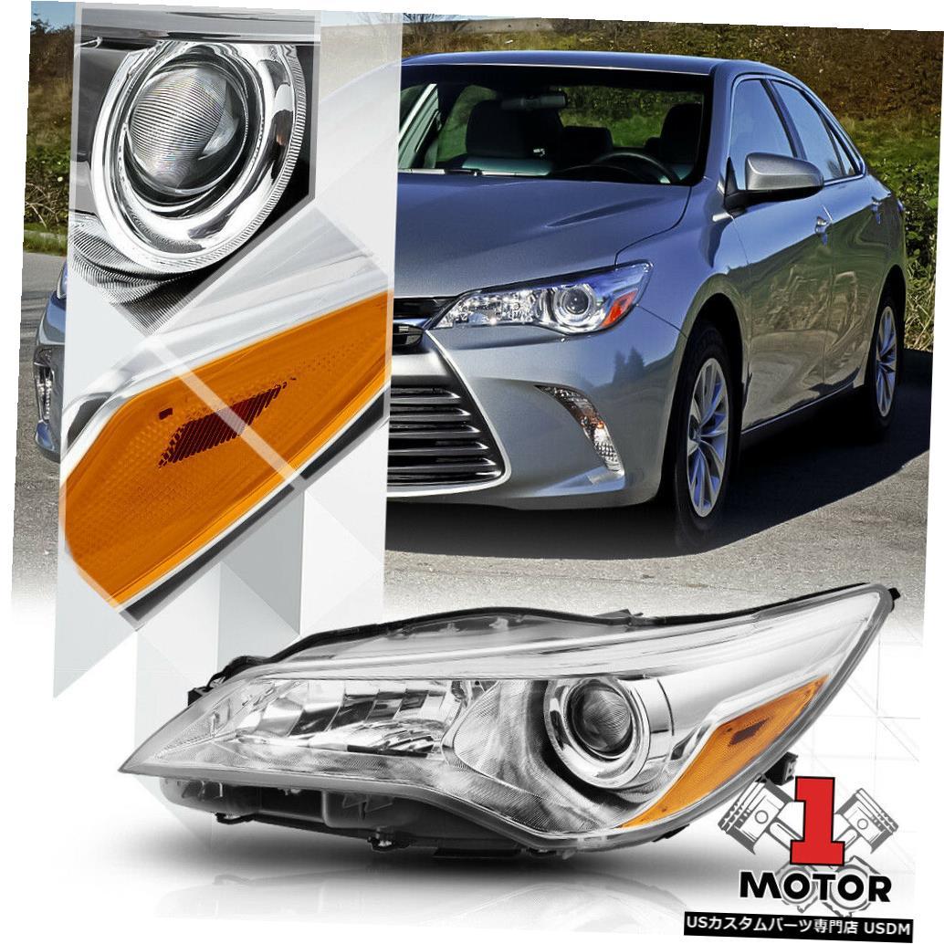 ヘッドライト 15-17トヨタカムリ用左LHドライバーサイドクロームプロジェクターヘッドライトアセンブリ Left LH Driver Side Chrome Projector Headlight Assembly for 15-17 Toyota Camry