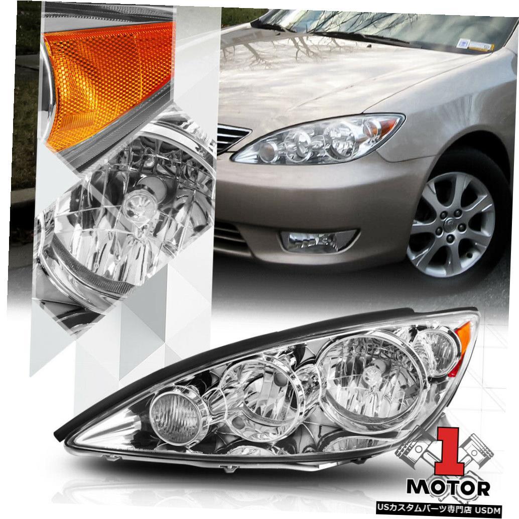 ヘッドライト 05-06トヨタカムリXV30用左LHドライバーサイドクロームヘッドライトランプアセンブリ Left LH Driver Side Chrome Headlight Lamp Assembly for 05-06 Toyota Camry XV30