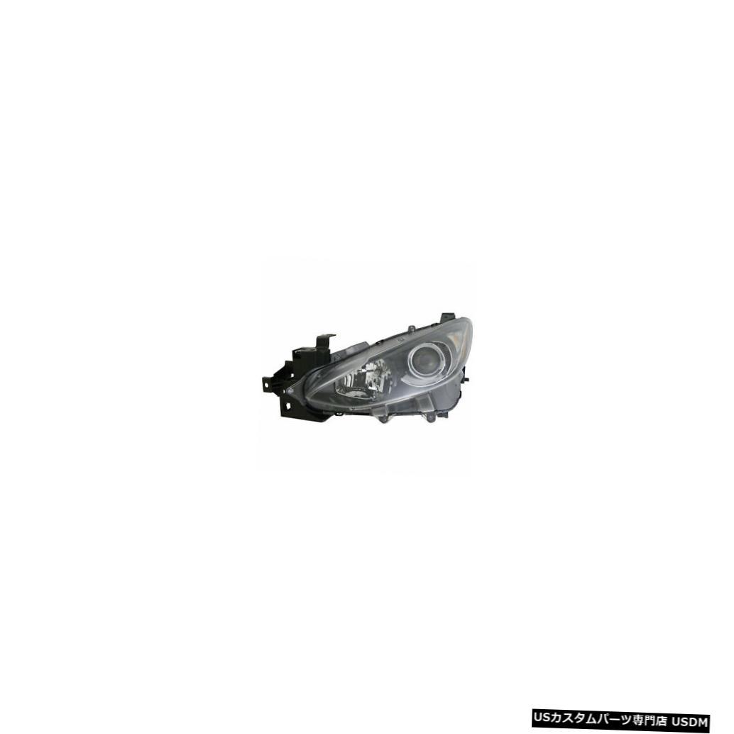 ヘッドライト 2014-2016マツダマツダ3ドライバー左側ハロゲンヘッドライトランプアセンブリNSF 2014-2016 Mazda Mazda 3 Driver Left Side Halogen Headlight Lamp Assembly NSF