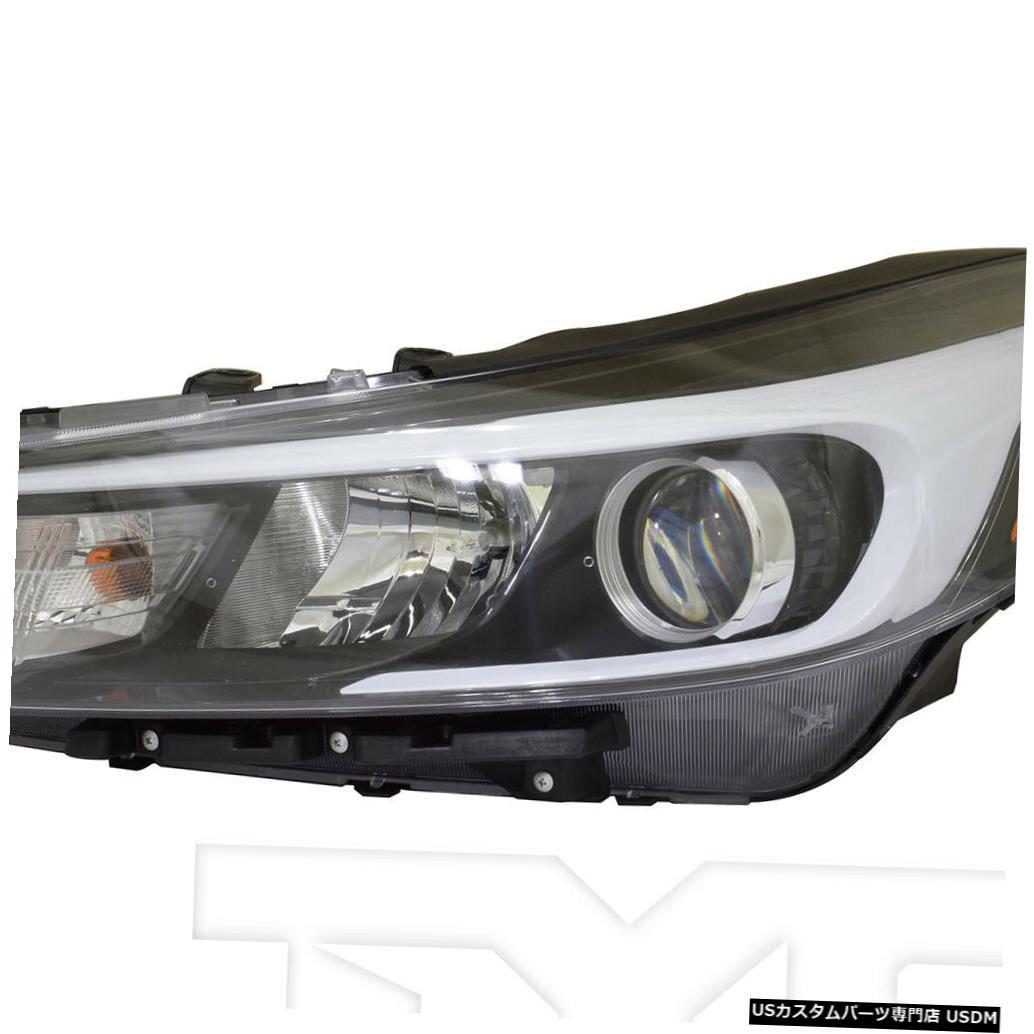 ヘッドライト 17-18 Kia Forte / Forte-5ハロゲンヘッドライト(LED DRLドライバー左側なし)に適合 Fits 17-18 Kia Forte/Forte-5 Halogen Headlight w/o LED DRL Driver Left Side