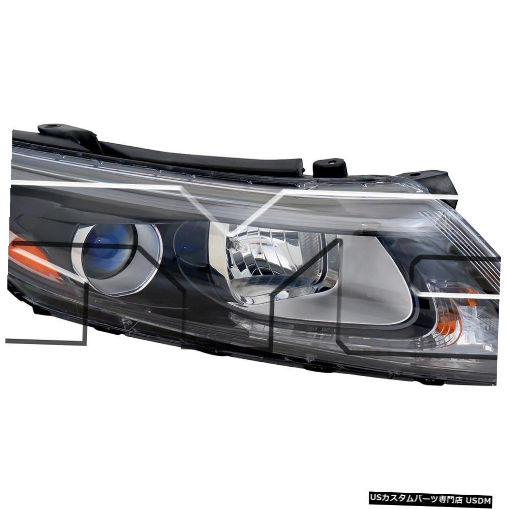 ヘッドライト 14-15 Kia Optima US Built Halogenに適合。 W / O LEDヘッドライト助手席右側 Fits 14-15 Kia Optima US Built Halogen; W/O LED Headlight Passenger Right Side