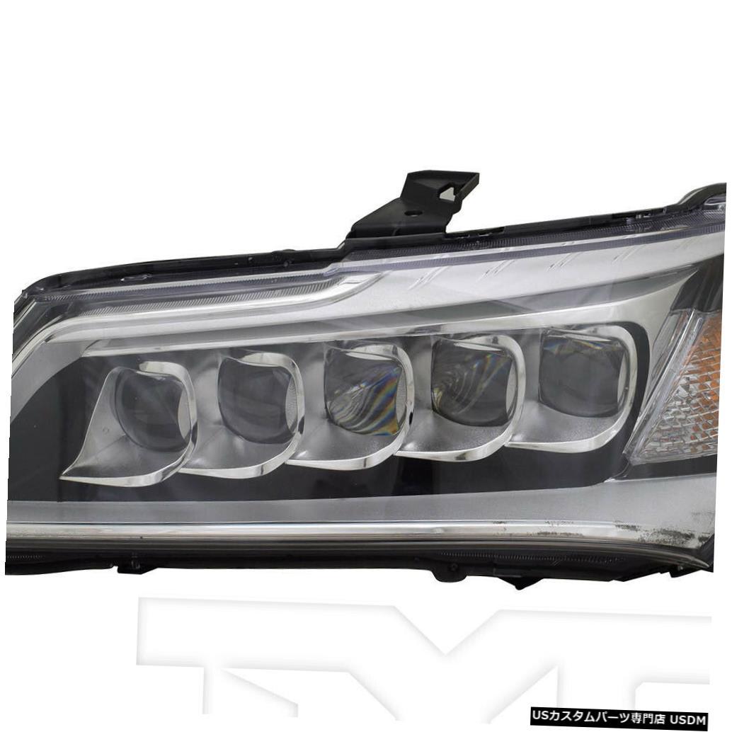 ヘッドライト 14-16 Acura MDX LED左ドライバーヘッドライトヘッドランプCAPA 14-16 Acura MDX LED Left Driver Headlight Headlamp CAPA