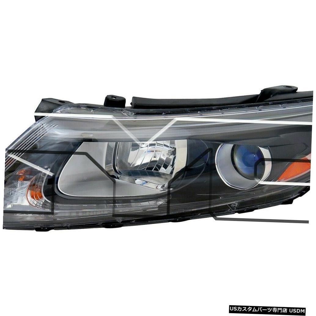 ヘッドライト 14-15 Kia Optima USに適合ハロゲンなしLED左ドライバーヘッドライトNSF Fits 14-15 Kia Optima US Built Halogen w/o LED Left Driver Headlight NSF
